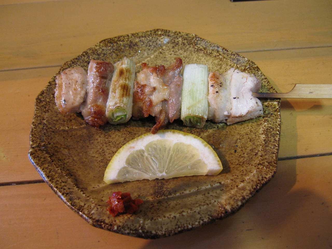 角館の比内地鶏串焼き