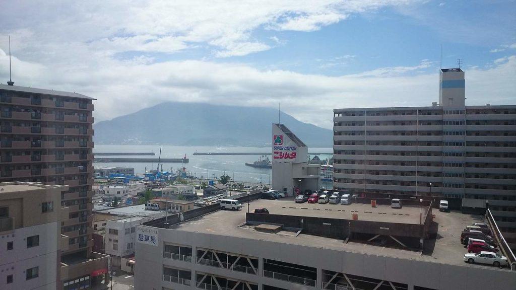 ホテルからの桜島