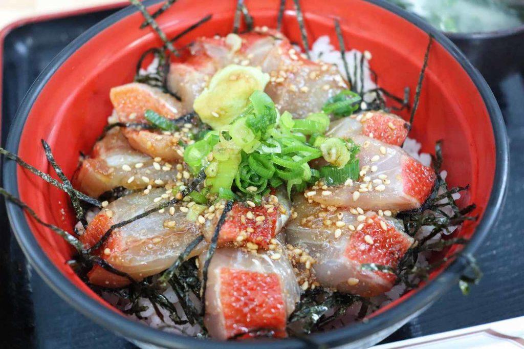 金目鯛の漬け丼