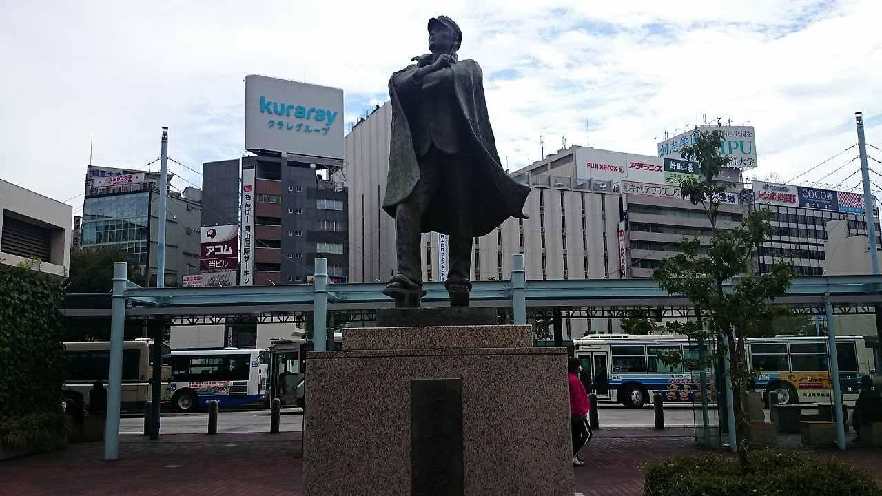 岡山駅の像