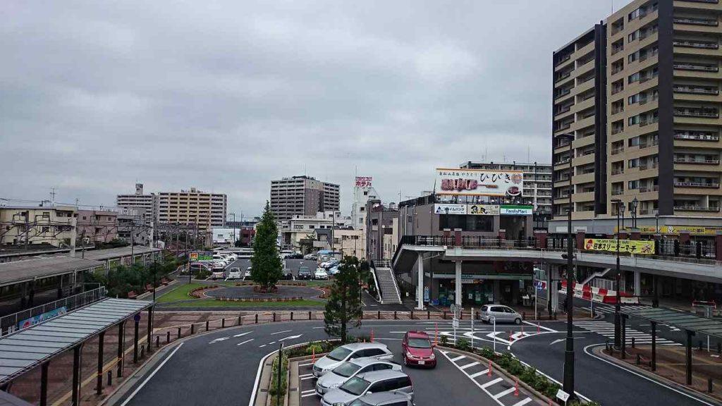 東松山駅からの風景