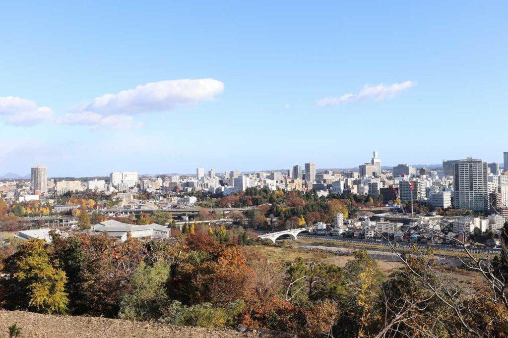 仙台市内を一望