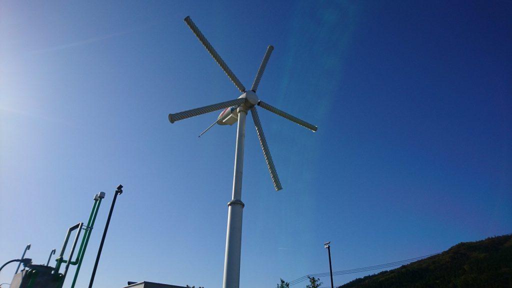 スパイラルマグナス風車in遠野