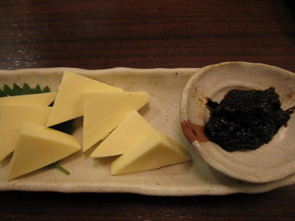 十六島のり佃煮と一口チーズ
